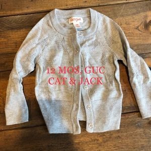 CAT & JACK 12 MOS SPARKLY SWEATER